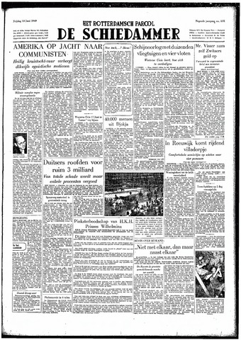 Rotterdamsch Parool / De Schiedammer 1949-06-10