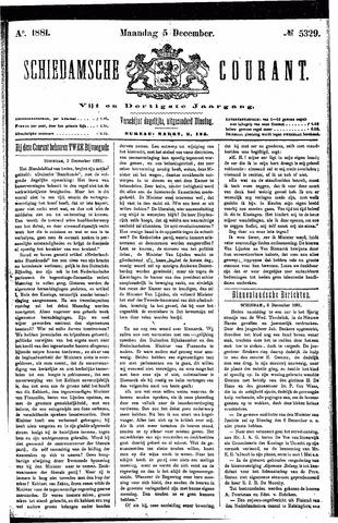 Schiedamsche Courant 1881-12-05