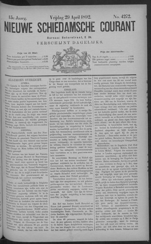 Nieuwe Schiedamsche Courant 1892-04-29