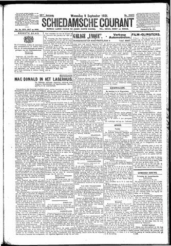 Schiedamsche Courant 1931-09-09