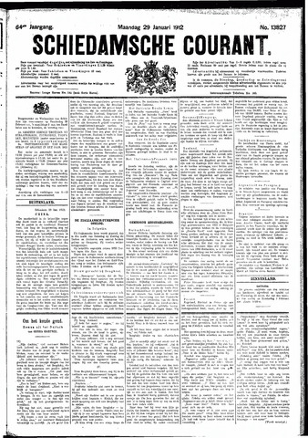 Schiedamsche Courant 1912-01-29