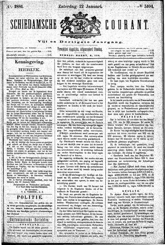 Schiedamsche Courant 1881-01-22