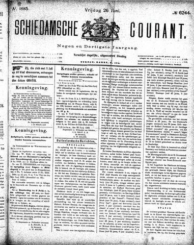 Schiedamsche Courant 1885-06-26