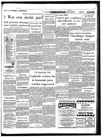 Rotterdamsch Parool / De Schiedammer 1963-10-09