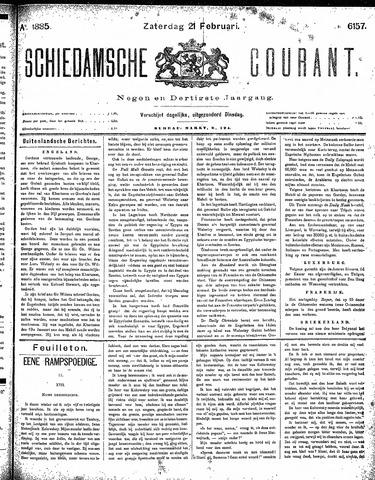 Schiedamsche Courant 1885-02-21