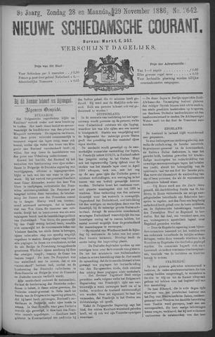 Nieuwe Schiedamsche Courant 1886-11-29