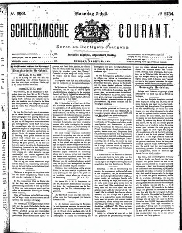 Schiedamsche Courant 1883-07-02