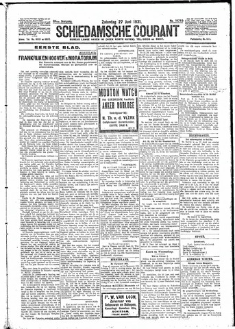 Schiedamsche Courant 1931-06-27