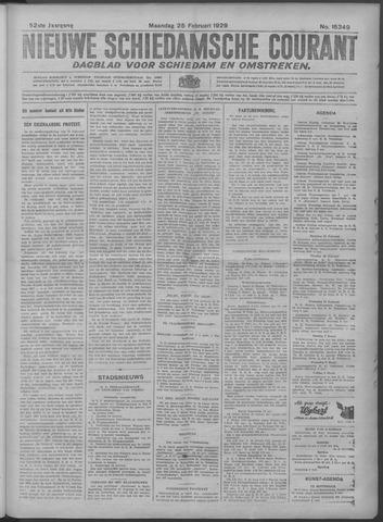 Nieuwe Schiedamsche Courant 1929-02-25