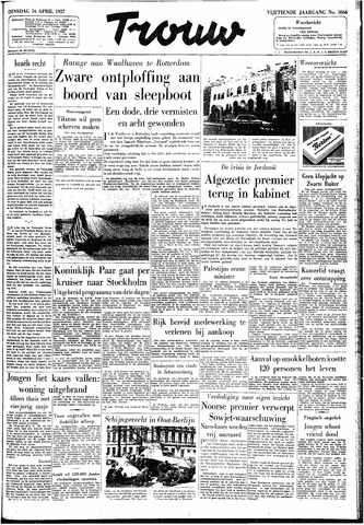 Trouw / De Rotterdammer 1957-04-16