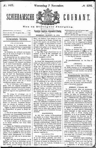 Schiedamsche Courant 1877-11-07