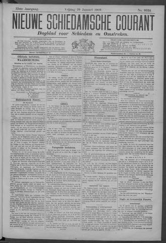 Nieuwe Schiedamsche Courant 1909-01-29