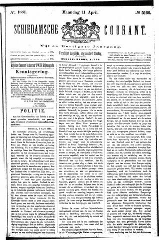 Schiedamsche Courant 1881-04-11