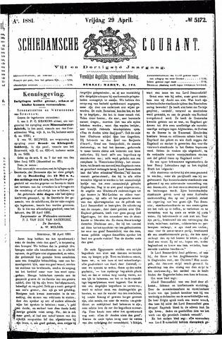 Schiedamsche Courant 1881-04-29