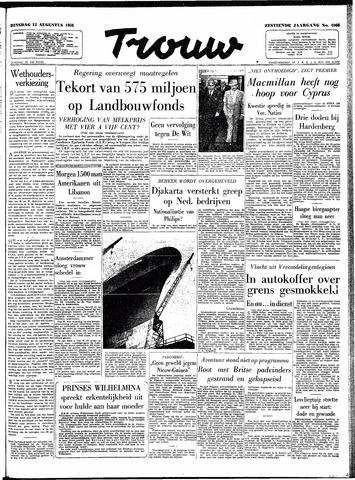 Trouw / De Rotterdammer 1958-08-12