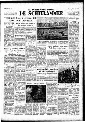 Rotterdamsch Parool / De Schiedammer 1949-11-07
