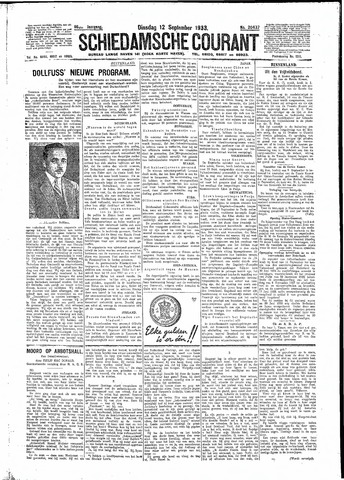 Schiedamsche Courant 1933-09-12