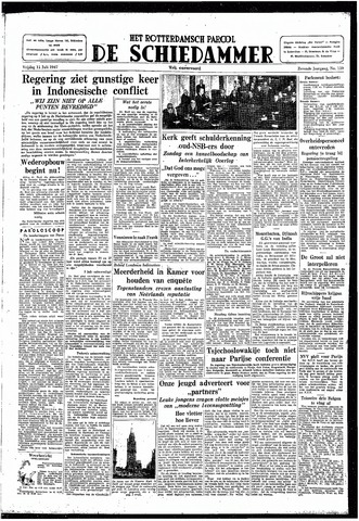 Rotterdamsch Parool / De Schiedammer 1947-07-11