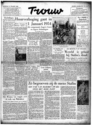 Trouw / De Rotterdammer 1953-03-10