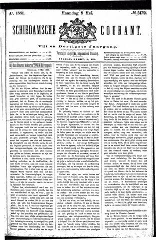 Schiedamsche Courant 1881-05-09