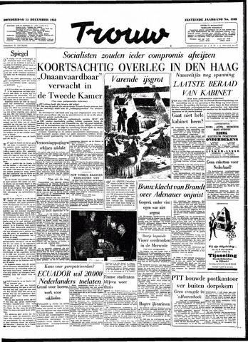 Trouw / De Rotterdammer 1958-12-11