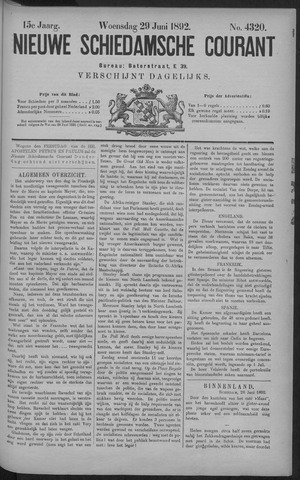 Nieuwe Schiedamsche Courant 1892-06-29