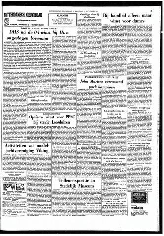 Rotterdamsch Nieuwsblad / Schiedamsche Courant / Rotterdams Dagblad / Waterweg / Algemeen Dagblad 1965-09-27