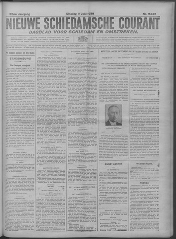 Nieuwe Schiedamsche Courant 1929-06-11