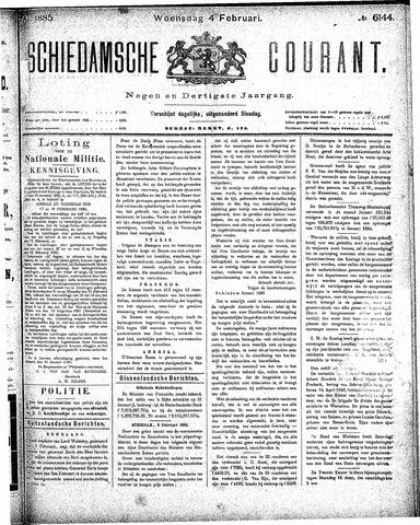 Schiedamsche Courant 1885-02-04