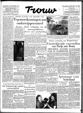 Trouw / De Rotterdammer 1954-10-20