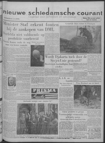 Nieuwe Schiedamsche Courant 1958-04-24