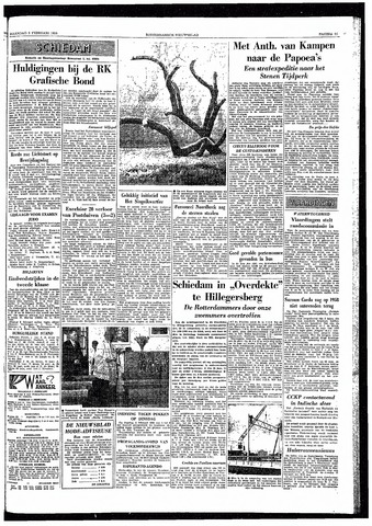 Rotterdamsch Nieuwsblad / Schiedamsche Courant / Rotterdams Dagblad / Waterweg / Algemeen Dagblad 1959-02-02