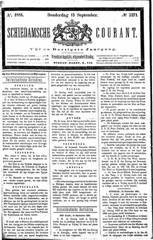 Schiedamsche Courant 1881-09-15