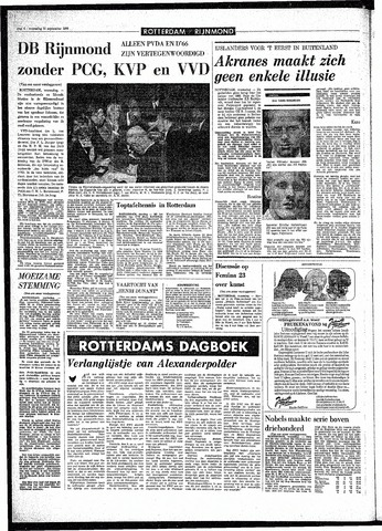Rotterdamsch Parool / De Schiedammer 1970-09-23