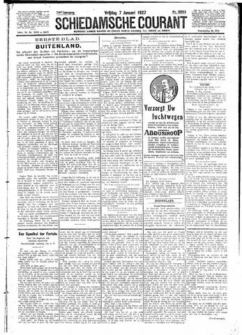Schiedamsche Courant 1927-01-07