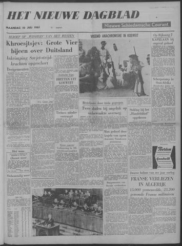 Nieuwe Schiedamsche Courant 1961-07-10
