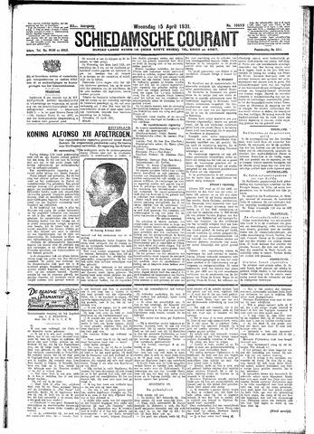 Schiedamsche Courant 1931-04-15