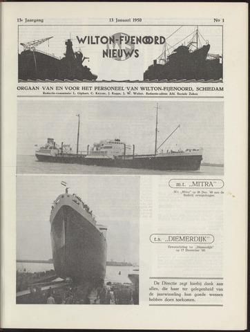 Wilton Fijenoord Nieuws 1950