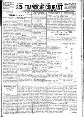 Schiedamsche Courant 1927-10-17