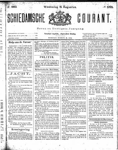Schiedamsche Courant 1883-08-15