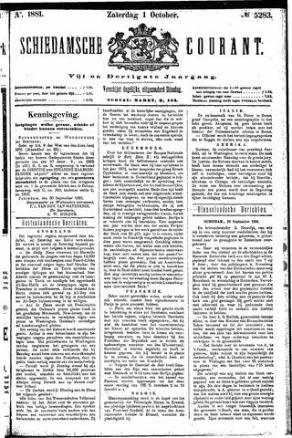 Schiedamsche Courant 1881-10-01