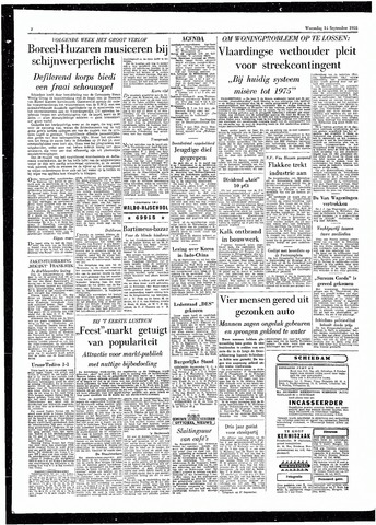Rotterdamsch Parool / De Schiedammer 1955-09-14
