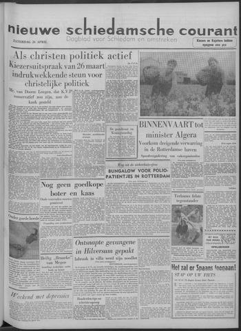 Nieuwe Schiedamsche Courant 1958-04-26