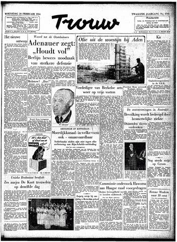 Trouw / De Rotterdammer 1954-02-24