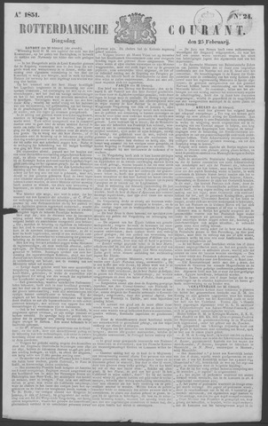 Rotterdamse Courant 1851-02-25