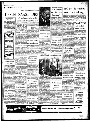 Rotterdamsch Parool / De Schiedammer 1963-04-01