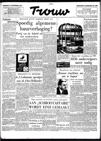 Trouw / De Rotterdammer 1958-11-21