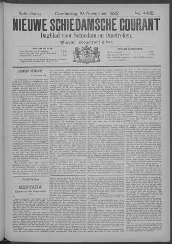 Nieuwe Schiedamsche Courant 1892-11-10
