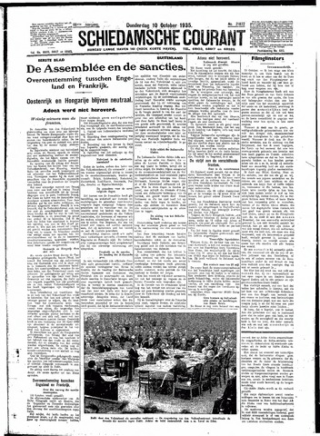 Schiedamsche Courant 1935-10-10