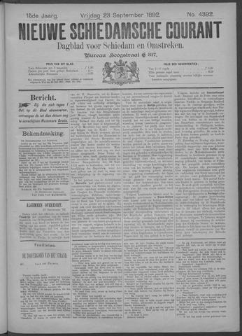 Nieuwe Schiedamsche Courant 1892-09-23